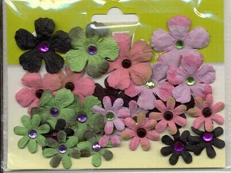 Bazix flowers Tye Dyed Gypsies 1012  lila/roze/zwart/groen