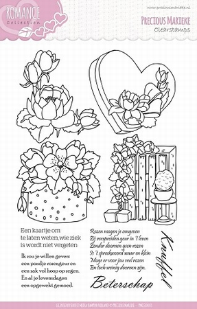 Precious Marieke's Clear Stamp PMCS10003 Romance Collection