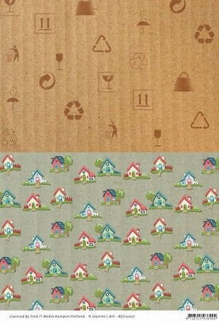 Background vel BGS10027 Moving Madness huisjes