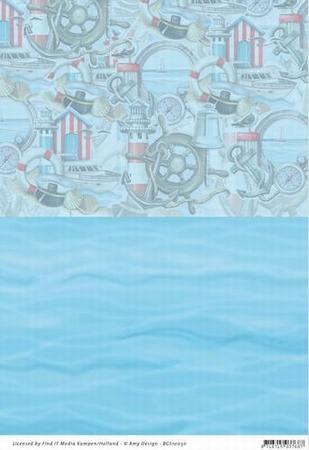 Background vel BGS10030 Amy Design Maritime Zee/elementen