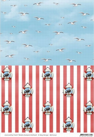 Background vel BGS10031 Amy Design Maritime Meeuwen/band