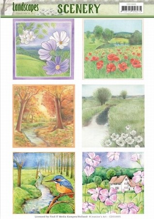Die Cut Topper Scenery Jeanine's Art CDS10005 Landscapes