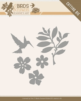 Die Jeanines Art JAD10063 Birds and Flowers Birds Foliage