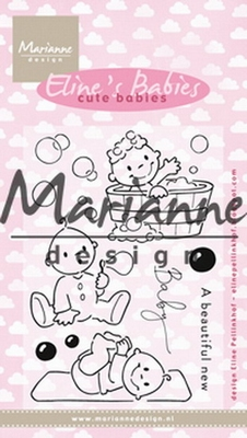 MD Clear stamp EC0176 Eline's cute babies