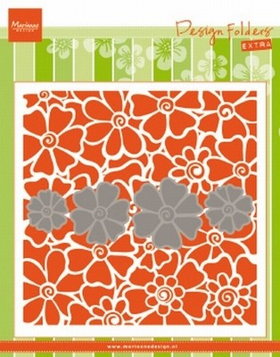 MD Embossing folder DF3452 Klaprozen/Poppies