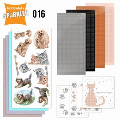 Sparkles SPDO016 Set 16 Cats & Dogs