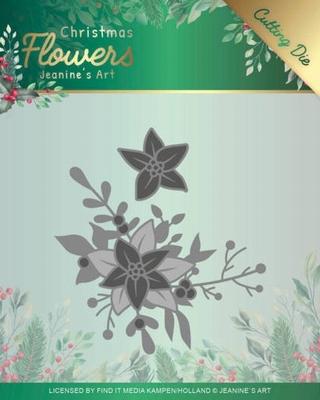 Jeanine's Art Christmas Flowers Dies JAD10107 Poinsettia