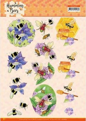Jeanine's Art Humming Bees 3D Knipvel CD11673