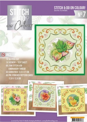 Stitch and Do on Colour STDOOC10007 Jeanine's Exotic Flowers
