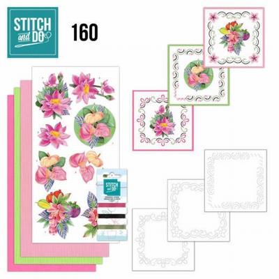 Stitch and Do borduursetje STDO160 Exotic Flowers