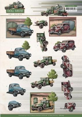 Amy Vintage Transport 3D Knipvel CD11705 Truck