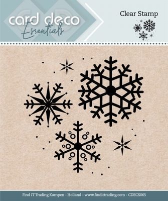Card Deco Essentials Clear Stamps CDECS065 Snowflake