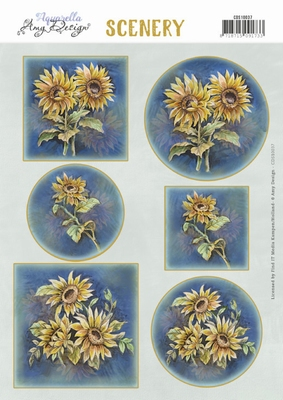 Scenery Amy Design CDS10037 Aquarella Sunflowers