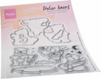 MD Clear Stamps & Dies EC0193 Eline's Polar bears