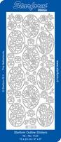 Stickervel Starform Outline 1124 Bloemen in ovaal