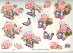 A4 Stansvel TBZ 580138 Roos met vlinder