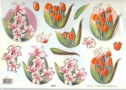 A4 Stansvel TBZ 580131 Tulpen/lelies