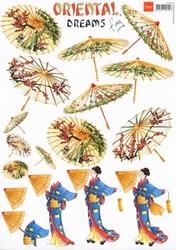 A4 Knipvel Marianne Design Shake it 528 Oriëntal parasollen