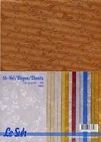 Lesuh  A4 Fantasie papier 412675 Vlinder/bloem
