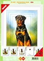 3D Art decoupage Card Deco 3-004 Rottweiler