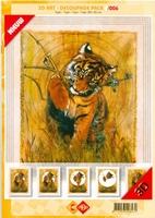 3D Art decoupage Card Deco 3-006 Tijger
