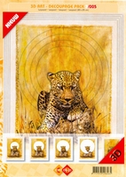 3D Art decoupage Card Deco 3-005 Luipaard