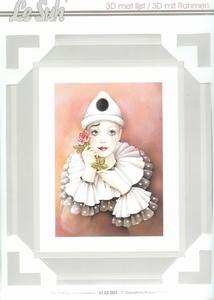 Lesuh 3-D schilderij Pierrot 1