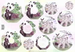 A4 Knipvel TBZ Pyramide 202198 Dieren Panda/olifant