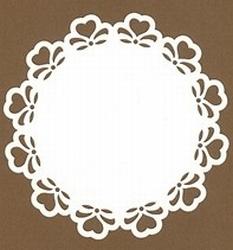 PaperUp oplegkaart 601023 rond Hartjes