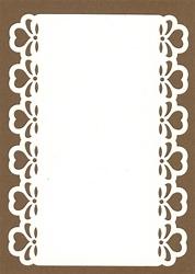 PaperUp oplegkaart A6 601024 Hartjes rand