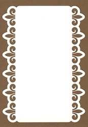 PaperUp oplegkaart A6 601030 Ornament rand