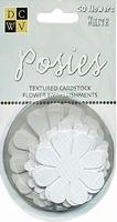 DCWV Posies papieren bloemen 00001 Wit