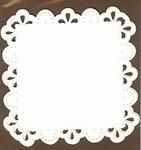 PaperUp borduur oplegkaart vierkant 612012 Drops i rectangle