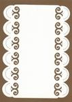 PaperUp borduur oplegkaart A6 602010 Krul in boogje