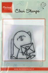 MD clear stamps Hetty Meeuwsen HM9405 Hond-brief