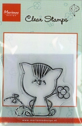MD clear stamps Hetty Meeuwsen HM9404 Poes-bloem