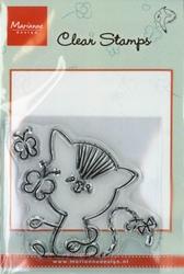 MD clear stamps Hetty Meeuwsen HM9403 Poes-Vlinder