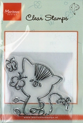 MD clear stamps Hetty Meeuwsen HM9403 Poes-Vlinder