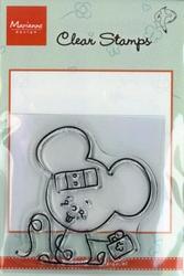 MD clear stamps Hetty Meeuwsen HM9402 Muis beterschap