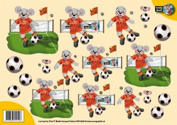 A4 Knipvel Creddy World CW10005 Voetbal oranje shirt
