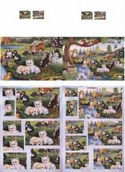 Kaart met pyramide stansvel 506-6037 Dieren kattenparadijs