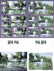 Kaart met pyramide stansvel 506-6027 Waterlelie/hond