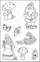 MD Tiny's Clear stamps TC0803 Kabouters
