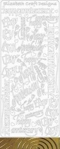 Elisabeth Craft Design Sticker 2825 Happy birthday