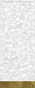 Elisabeth Craft Design Sticker 2829 With love