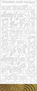 Elisabeth Craft Design Sticker 2835 Just for You
