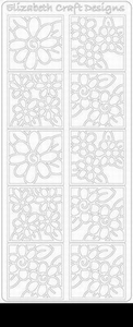 Elizabeth Craft Designs Sticker 0157 Bloemen in 4kant
