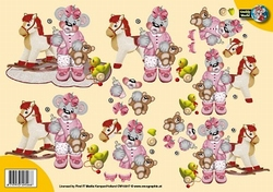 A4 Knipvel Creddy World CW10017 Schommelpaardje
