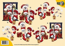 A4 Knipvel Creddy World CW10011 Kerst rood pak