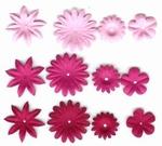 Rayher Papier bloemen mengeling 5518 Rood/Rozetinten